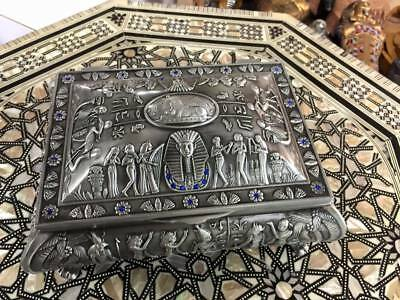 Vintage Unique Large Egyptian Jewelry Box 1988 Mad in Egypt