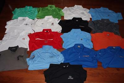 Lot 17 Nike Dri-Fit Mens Golf Polo Shirts Adidas Nike Fit Dry Tiger Woods Large