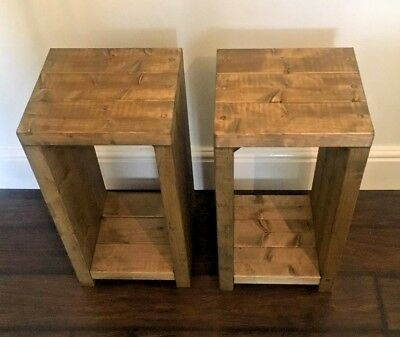 Rustic Handmade Bedside/Small Table- Many Colours and Sizes – Unique Design.