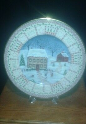 "Lenox Collectable Plate ""American Quilt - Building A Snowman"" Limited Edition"
