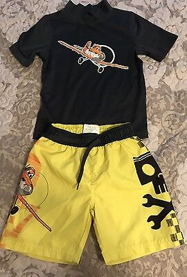 Lot Of Boys  Disney Planes Size Swimming Shorts 3T Top Is 4T.