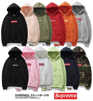New Men's SUPREME Hip Hop Hoodie Embroidered Cotton Sweater Keep Warm Hoodies