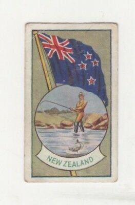 Allen's Confectionery - Sports and Flags of Nations - New Zealand  - Fly Fishing