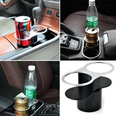 Car Double Cup Can Holder Valet Travel Coffee Bottle Holder Table Stand Vehicles