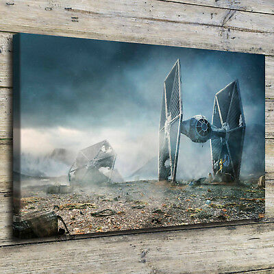 Tie Fighter Star Wars Painting Hd Print On Canvas Home Decor Wall Art Picture