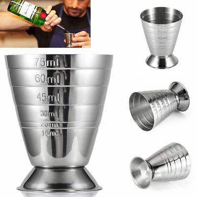 Stainless Steel Measuring Jigger Shot Cocktail Wine Bar Jigger Level Measure Cup