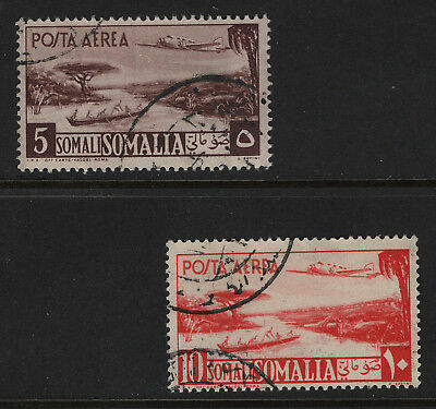 OPC 1950-1 Somalia Airmail High Values Sc#C26-7 Used Sound