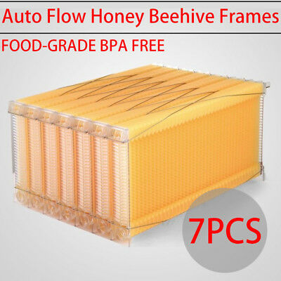 7PCS 2018 Auto Flow Honey Beekeeping Beehive Raw Bee Comb Hive Frames Harvesting