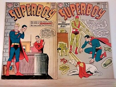 Superboy #94,#99,#141 Dc Comics 1962-67 Silver Age Lot Krypto More Books Listed