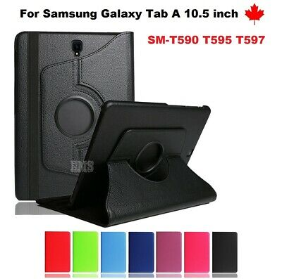 "For Samsung Galaxy Tab A 10.5"" SM-T590 T595 T597, 360° Leather Stand Case Cover"