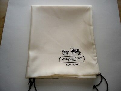 """New COACH Large Drawstring Dust Bag Ivory/Brown  23''X19"""""""