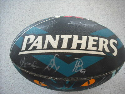 Nrl Penrith Panthers Signed Supporter Ball Chevron Edition Steeden Rugby League