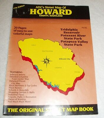 Howard County Md Zip Code Map.Vintage Howard County Md Adc Street Map 1992 16th Edition 12 99