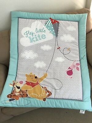 Winnie the Pooh Cot Quilt or Playmat Handmade NEW