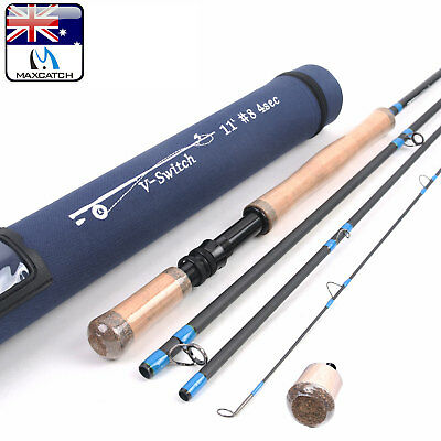 Maxcatch Switch Rod 6WT 8WT 11FT Fly Fishing Rod With Switchable Fighting Butt