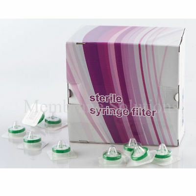 10x Sterile Syringe Filter PES 25 mm 0.22 µm, Individually Sterilized Pack, HPLC