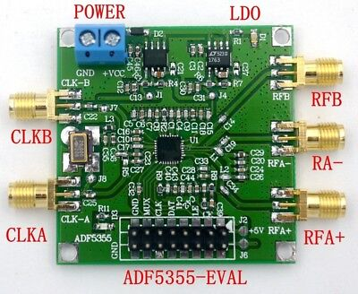 New ADF5355 54MHz-13600MHz Host Computer Phase Phase-locked Loop RF Source Board