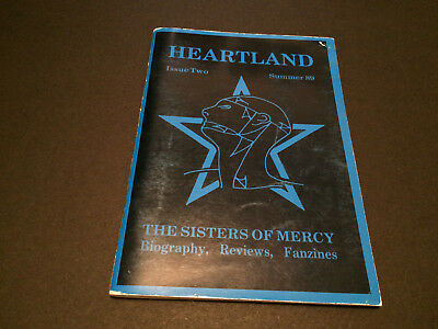 The Sisters Of Mercy Heartland Fan Club Official Magazine Fanzine #2 Sample Book