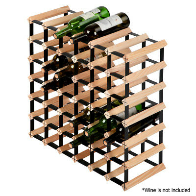 42 Bottle Timber Wine Rack Kicthen Wooden Storage Cellar Vintry Organiser Stand