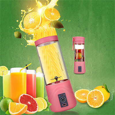 Portable Electric Juicer Blender Rechargeable Personal Juicer Cup Phone Charger.