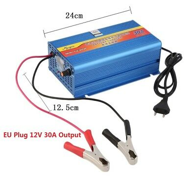 12V 30A Car Battery Charger Motorcycle Battery Charger Lead Acid Charger EU XW2#