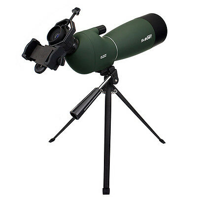 Hot 25-75x70mm Angled Zoom Spotting Scope Waterproof&Cell Phone Mount Adapter SP