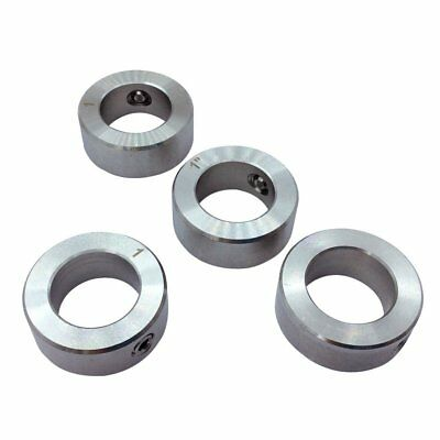 "4Pcs Set Screw Shaft Collar Bore 1"" Width 5/8 inch 304 Stainless Steel Silvery"