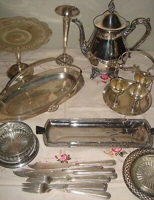 Bulk EPNS Silver Plate Tableware - Viners Coffee Pot / Egg Caddy / Cake Stand +