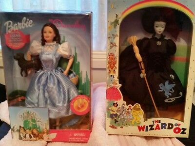 Wizard of Oz  Dorothy  barbie  Wicked witch of the West barbie Pink label