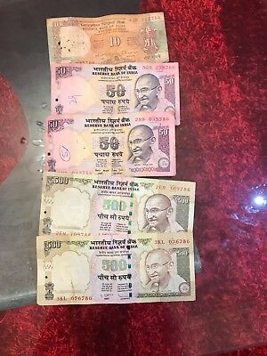 Indian Rupees 786 Lucky Number Notes X 5