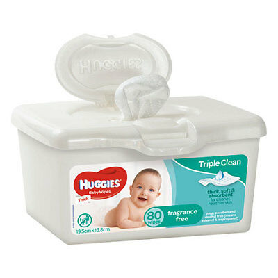 NEW Huggies Wipes Tub Unscented - 80 Wipes