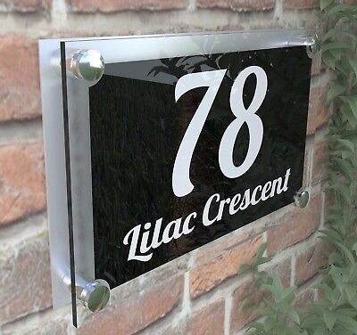 Large Contemporary House Sign Plaques Door Number 1 - 999 Door numbers PAR1WB