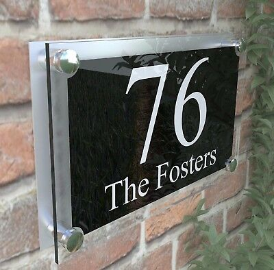 Large Contemporary House Sign Plaques Door Number 1 - 999 Door numbers PAR2WB