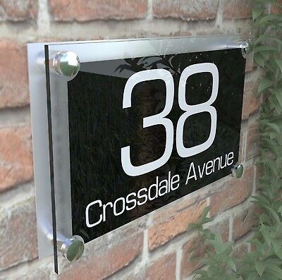Large Contemporary House Sign Plaques Door Number 1 - 999 Door numbers PAR8WB