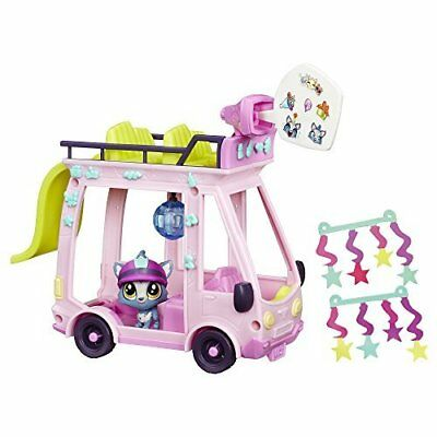 Littlest Pet Shop Toy Pets in the City Shuttle Bus with Barkley Woofley Figure