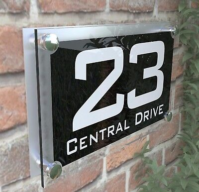 Large Contemporary House Sign Plaques Door Number 1 - 999 Door numbers PAR10WB