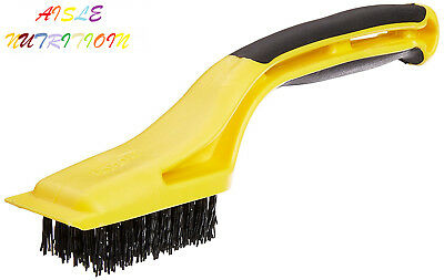 Hyde Tools 46804 Flexible Nylon Stripping Brush with Plastic Scraper and...