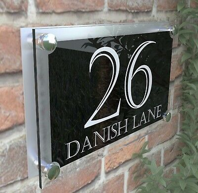 Large Contemporary House Sign Plaques Door Number 1 - 999 Door numbers PAR24WB
