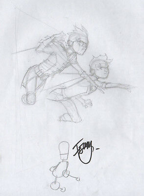 Teen Titans cover prelim with ROBIN & SUPERBOY by Pasqual Ferry DC Comics