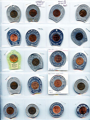 20 Pack Different Encased Cents Memorials NY OH MN IL NC Mavericks