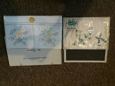 vintage linen bixed pillow cases tray cloth Dorcas & Old Keltic