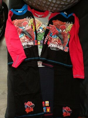 Marvel Spiderman Hulk Pyjama Bundle Age 7-8