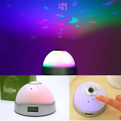 Color Changing Light Digital LED Projector Projection Time Star Sky Alarm Clock