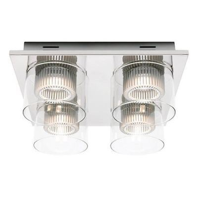 LED Ceiling Fixture Light With Chrome Finish and Clear Glass By Cougar Lighting