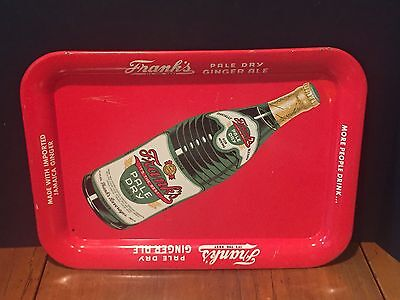 Antique Vintage Soda Fountain Serving Tray Advertising Frank's Ginger Ale