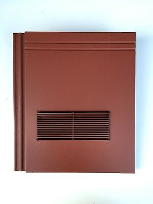 Roof Tile Vent To Fit Redland Stonewold II Mk2 | Red Smooth | 10 Colours