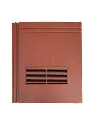 Roof Tile Vent To Fit Redland Stonewold II Mk2 | Red Granular | 10 Colours
