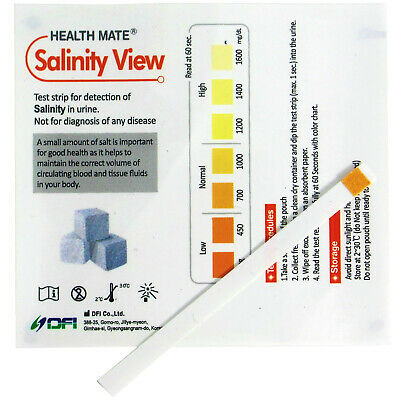 Salinity Salt Home Urine Test Strips