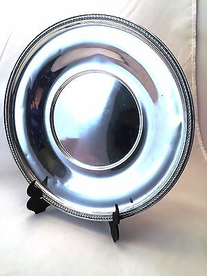 Antique Sterling Silver Meriden Britannia Serving Plate Dish 9 1/2""