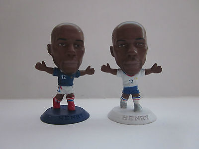 THIERRY HENRY - FRANCE Pair of Microstars Figures (Home & Away Kits) 2006